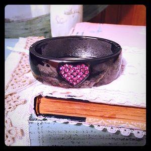 Betsey Johnson Heart Gem Bracelet